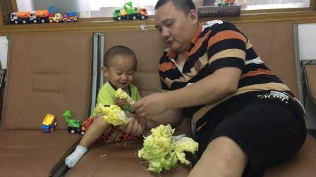 日本食玩迷你厨房 宝宝认识大白菜搞笑视频