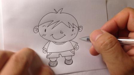 儿童简笔画系列.卡通小男孩的画法