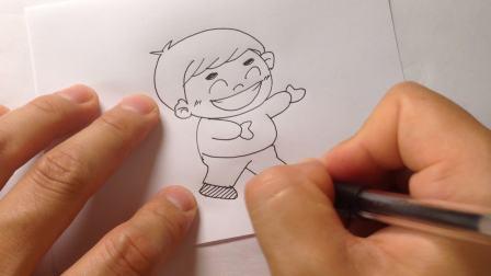 手绘简笔画.卡通人物