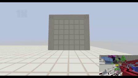 Minecraft 6x6 Hipster Door 6x6完全下吸
