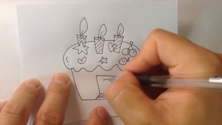 生日蛋糕-简笔画各种蛋糕的画法9