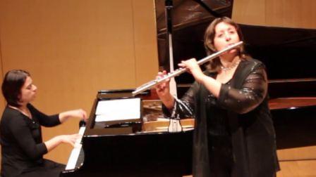 法国长笛演奏家奥蒂勒雷诺奏鸣曲 'Ondine'de REINECKE Carl