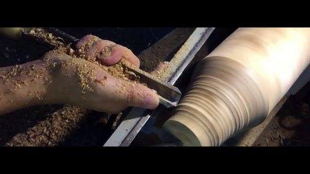 谷鹊木作——制作一枚原木花瓶