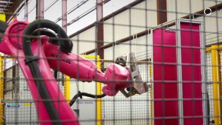 使用 KUKA 机器人 快速处理金属圆管