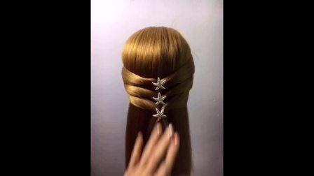 个性蘑菇头扎头发学生头儿童编发发型偏分头教程编发教程