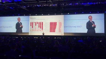 2017华为全球移动宽带论坛 ABB机器人应用部门全球老大Joni主题演讲