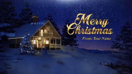微信商务英文版圣诞电子贺卡小视频