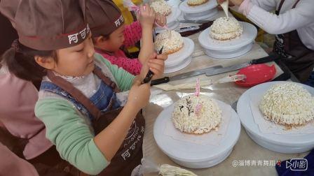淄博青青舞蹈2017圣诞节主题活动~DIY蛋糕5