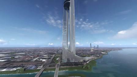 柬埔寨首都金边双子大厦世贸中心(133大楼)