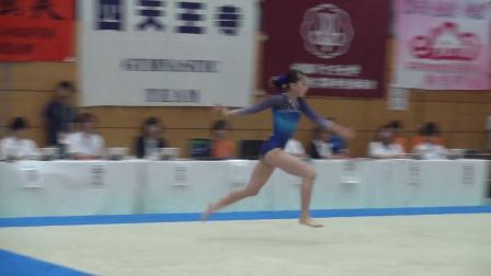 山本千夏 2017日本高校综体女子体操决赛 自由操