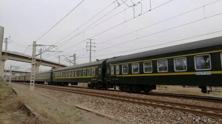 京局京段HXD3C牵引K395(北京西-乌海西)通过古城村桥