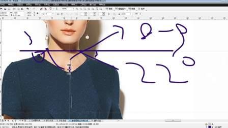 服装ET打版视频教程 服装裁剪技法 服装制版视腰部褶皱连衣裙打版-1