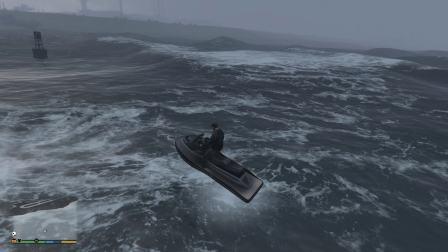 GTA5.2K最高画质.雷雨天气.飙车.嘚瑟.最终死鱼鲨鱼之口
