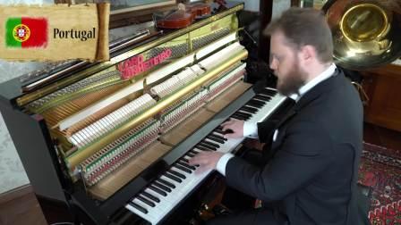老外用钢琴演奏32个世界杯参战国的国歌