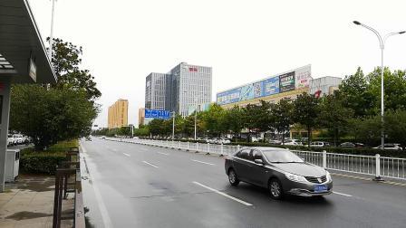 2018年台风摩羯来之前宿迁市京东商城客服中心当当总部手机实拍