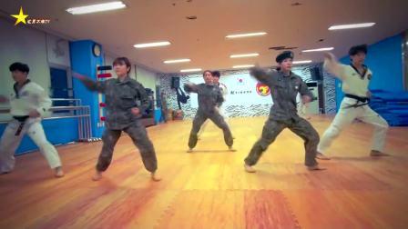 韩国虎队,跆拳道美女带你感受超酷炫的韩国功