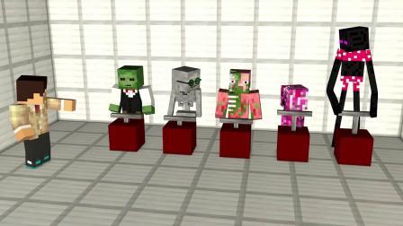 我的世界动画-史蒂夫版本的疯狂木偶人-Ditzy Animations