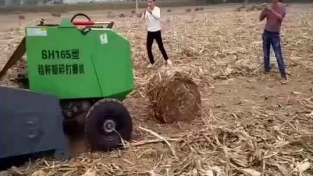 玉米秸秆粉碎打捆机生产厂调试视频