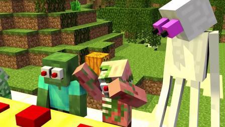 我的世界动画-村民代替了疯狂的木偶人-Ditzy Animations