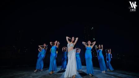 杜湘湘肚皮舞老师编舞 现代埃及风肚皮舞视频《白裙飘飘》