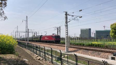 T112次通过沪昆线沪杭段K181+911KM处乔司机务段旁 HXD3D0523