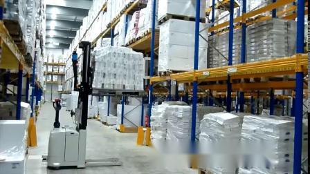 法艾斯AxterAGV-激光导航-堆垛车在仓库中堆高 智能物流