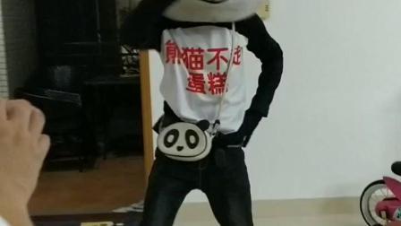 熊猫不走蛋糕,熊猫先生爆笑登场😂😂😂