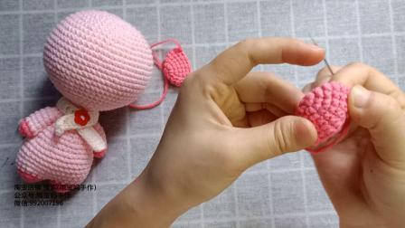 雨宝妈手作第16集大头玩偶之-小猪编织教程毛线编织图案