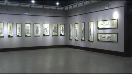 汉石丹青—南阳陈棚汉代彩绘画像石墓拓片在三门峡开展现场