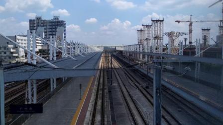 G6131(岳阳东—广州南)本务广铁长沙段,搭载CR400AF-A型车底,限速通过广州北站