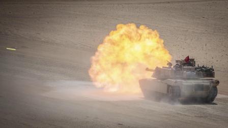 驻科威特比林营美海军陆战队远征队M1主战坦克开火集锦