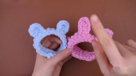 小熊小兔子手环 如意鸟编织教程