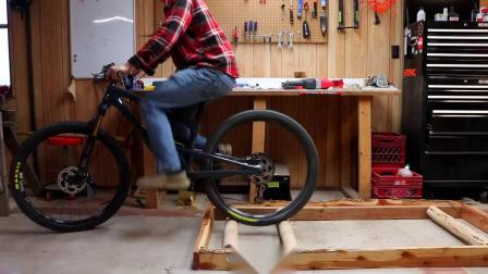 How To Build DIY Bike Rollers with Logs for EXTREME Indoor Biking!.mp4