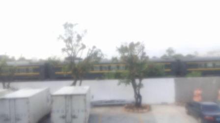 DF11G 0157和DF11G 0148牵引Z385次列车慢速通过肇庆站机外