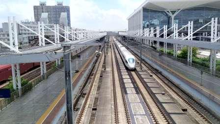 2020年9月20日,G6016次(深圳北站-长沙南站)本务中国铁路广州局集团有限公司广州动车段长沙动车运用所CRH3C型重联广州北站通过