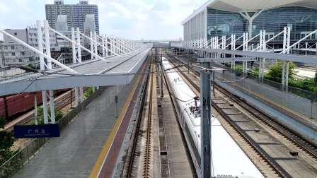 2020年9月20日,G6155次(怀化南站-珠海站)本务中国铁路广州局集团有限公司广州动车段长沙动车运用所CRH380B-3628广州北站通过
