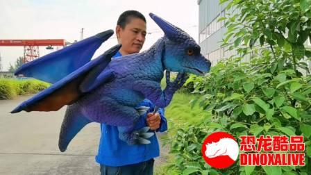 制造的幼年飞龙幼崽玩偶 - 蓝色小飞龙玩偶
