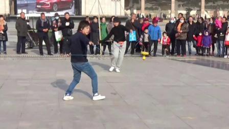 晋陝甘空竹交流吉晓霞精彩展示平立盘花样摄制卫纯永