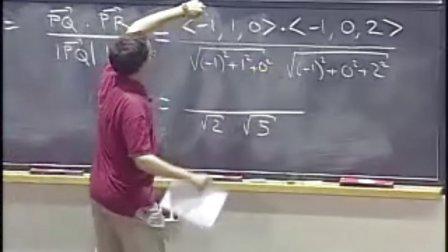 [多变量微积分:点积].Lecture.01