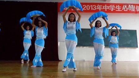 建宁县一中美女舞蹈。得胜者影视 业余记者168