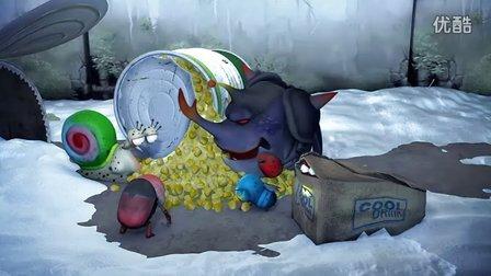 【超清HD】《Larva》爆笑动画短片 - 打雪仗