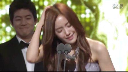 111230 T-ara孝敏-获奖感言,激动的哭了
