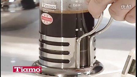 乔叔叔 tiamo 法式滤压壶 法压壶 制作咖啡