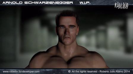 W.I.P. Arnold Schwarzenegger - 3D - Phase 01