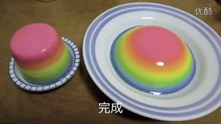 【虹色菓子】虹色ゼリー作ってみた【牛乳寒天】