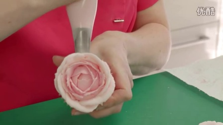 奶油霜裱花教程之卷边玫瑰CUPCAKE