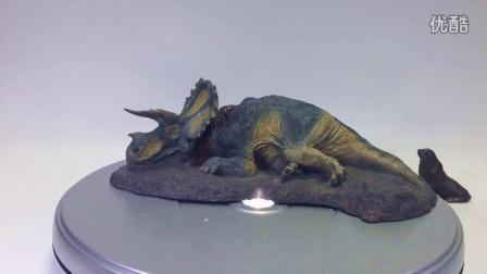 初丁模玩分享08侏罗纪公园侏罗纪世界REBOR三角龙尸体陨落女皇