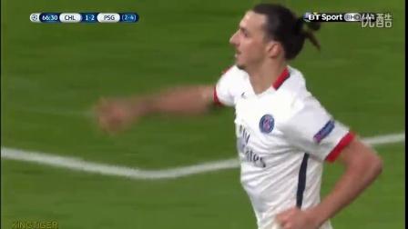 伊布传射DC伤退 巴黎2-1双杀切尔西进欧冠八强