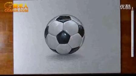 3D绘画How I draw a football soccer ball_标清