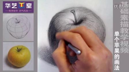 基础素描苹果画法_高清